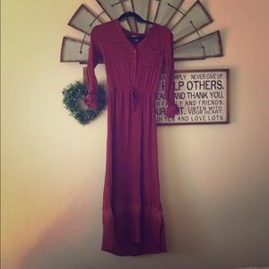 Maroon DownEast Dress